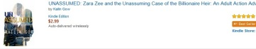 Unassumed is #1 Bestseller on Amazon for Literature